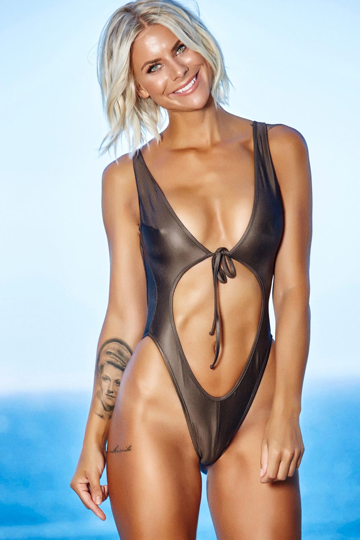 gray open front swimsuit swim tigelle com intimates