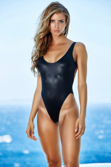 Black Shiny Swimsuit
