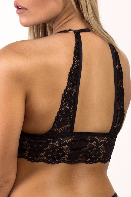 Black Diagonal Bralette