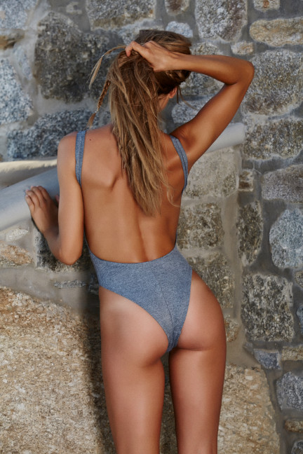 Gray Denim One Piece