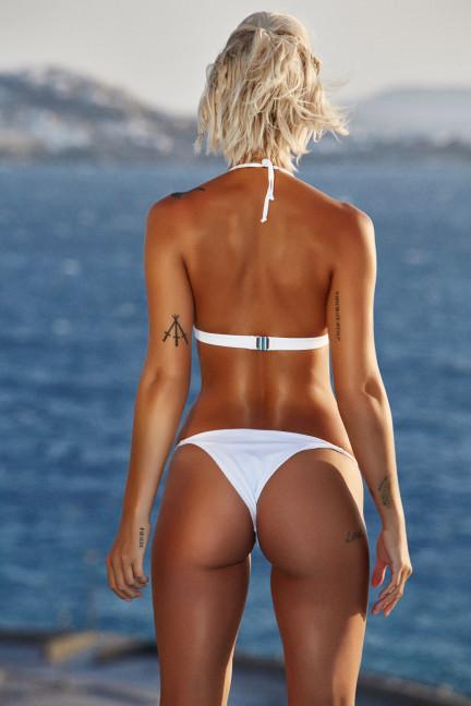 White Thin Strap Bikini
