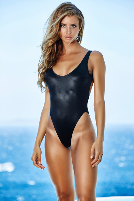 Black Shiny Swimsuit