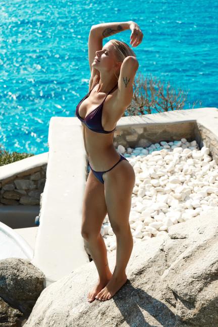 Red Thin Strap Bikini