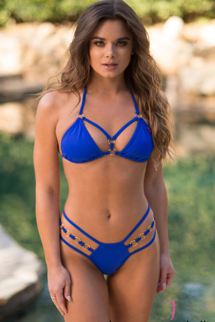 Royal Blue Strappy Bikini