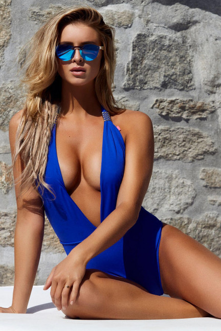 Blue Deep Plunge One Piece