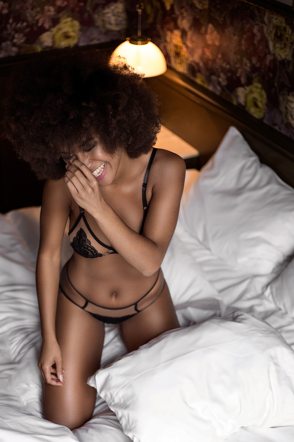 Tigelle - Gothenburg photoshoot, Pigalle | Black Peekaboo Set